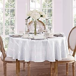 Elegance Plaid Contemporary Woven Solid Decorative Tableclot