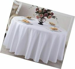 Eforcurtain Elegant Circles Jacquard Tablecloth Round Fabric