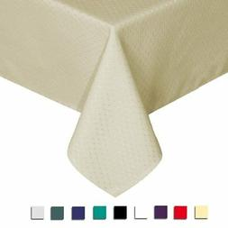Eforcurtain Elegant Waffle Polyester Table Cover Rectangle T