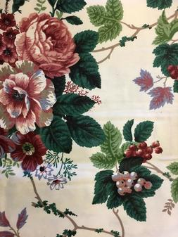 English Ivy Grape Tablecloth Pink Floral Square Topper  Clot