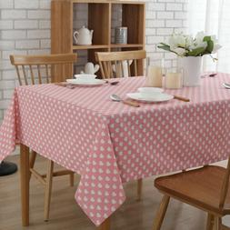 """Enova Home 54""""x 72"""" Pink Love Rectangle Cotton and Linen Was"""