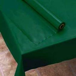 "EXTRA WIDE Hunter Green 54"" X 150' Plastic Banquet Table cov"