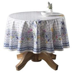 Maison d' Hermine Faïence 100% Cotton Tablecloth 69 Inch Ro