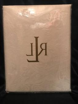 "FAB! NEW! Ralph Lauren Suite Cream Paisley 60"" x 120"" Oblong"