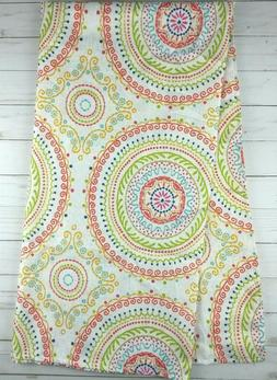 Fabric Tablecloth 52x52 Square Circle Stitch Printed Medalli