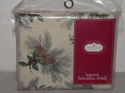 "Trim A Home fabric tablecloth 60""x120"" rectangle Xmas pineco"