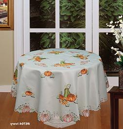 Creative Linens Fall Autumn Harvest Thanksgiving Embroidered