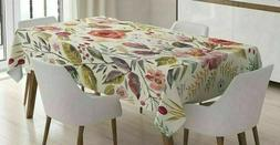 Farm Chic Tablecloth AMBESONNE Tablecloth Cover Watercolor S
