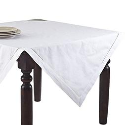 Fennco Styles Handmade Basic Hemstitch Linen-Cotton Tableclo