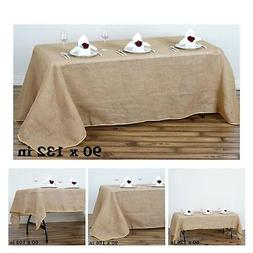 Fine Rustic Burlap Rectangle Tablecloth  For Wedding Party B