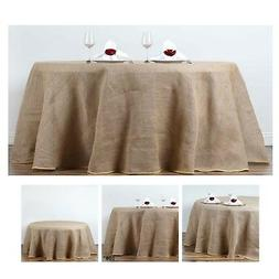 Fine Rustic Burlap Round Tablecloth For Wedding Party Banque