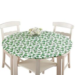 Collections Etc Fitted Elastic No-Slip Fit Table Cover with
