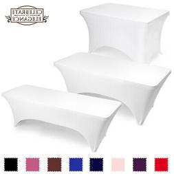 Fitted Spandex Stretch Fabric Tablecloth Cover