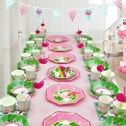 Flamingo Party Supplies Pack Disposable Tableware Including