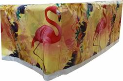 FLAMINGO TABLECLOTH TABLE COVER BIRTHDAY BABY SHOWER PARTY S