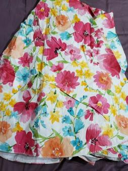 """Floral 70"""" Round Vinyl Tablecloth with Umbrella Hole with fl"""