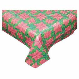 The Holiday Aisle Floral Cheer Vinyl Tablecloth with Polyest