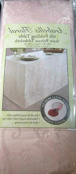 Arabella Floral Damask Tablecloth  for 6 Ft. Folding Table P