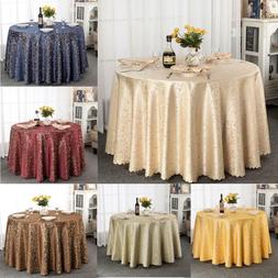 Floral Fabric Polyester Round Shape Pattern Wedding Party De
