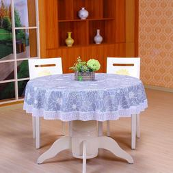 Floral Round Tablecloth Waterproof Lace Table Cloth Table Co