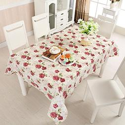 """Uforme Beautiful Floral Table Decorations 60"""" x 90"""" Oblong T"""
