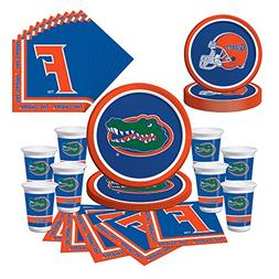 Florida Gators Party Bundle - Plates, Cups, Napkins