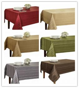 "Benson Mills Flow ""Spillproof"" Fabric Tablecloth,3 sizes: 60"