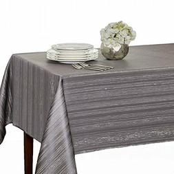 "Benson Mills Flow ""Spillproof"" Fabric Tablecloth, 60X104 Inc"