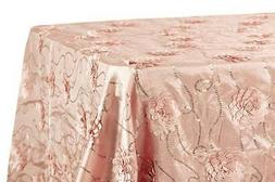 "Flower on Sequin Taffeta Rectangular Tablecloth 90""x132"" - B"