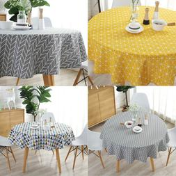 <font><b>Linen</b></font> Printing Tablecloth Round <font><b