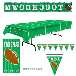 Football Party Decorations Banners,Banner Door Cover,Table C