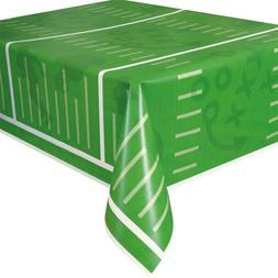 "Football Field Plastic Tablecloth, 108"" x 54"""
