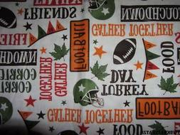 FOOTBALL GAME DAY TURKEY DAY VINYL TABLECLOTH FLANNEL BACK 5