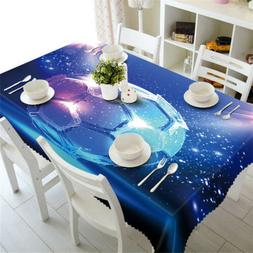 Gorgeous Football3D Tablecloth Table cover Cloth Rectangle W