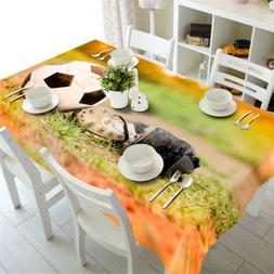 Football On Heath3D Tablecloth Table cover Cloth Rectangle W