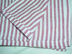 FRENCH COUNTRY RED CREAM STRIPE 62X 102 RECTANGULAR TABLECLO