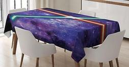 Galaxy Tablecloth Ambesonne 3 Sizes Rectangular Table Cover