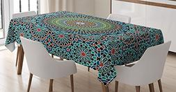 Ambesonne Geometric Decor Tablecloth by, Traditional Middle