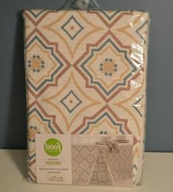 """Giant Geo Tablecloth 60 X 84"""" Table Cover Fabric Washable Fo"""