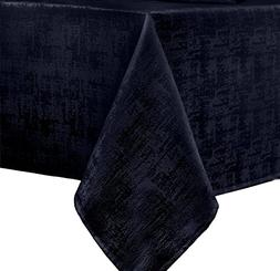Benson Mills Glacier Fabric Tablecloth, 60 x 104, Navy