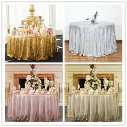 Glitter Sequin Tablecloth Round Table Cloth Topper Wedding P
