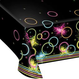 "Glow Party Neon Tablecloth Table Cover 54"" x 102"" Party Tabl"