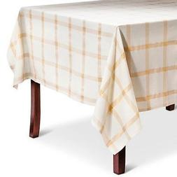 "Threshold Gold Plaid Tablecloth  Rectangle 60"" x 84"""