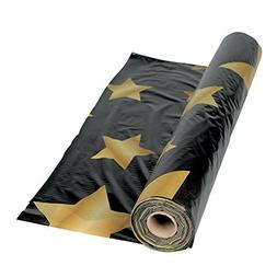 Gold Star Black Tablecloth Roll - Party Tableware & Table Co