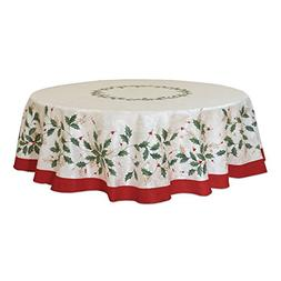 Lenox Golden Holly 70-inch Round Tablecloth