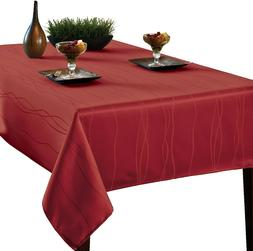 Benson Mills Gourmet SPILLPROOF Fabric Tablecloth, Rio RED,
