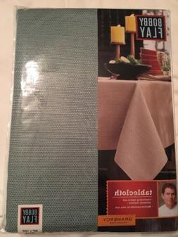 """Bobby Flay Tablecloth; Gramercy Collection, Sage Green, 60"""""""