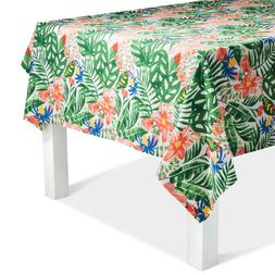 "Green Floral 60"" x 84"" Tablecloth Weight, Lawn Green"