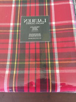 Ralph Lauren GRETCHEN TARTAN RED Black, Yellow & White 60 x