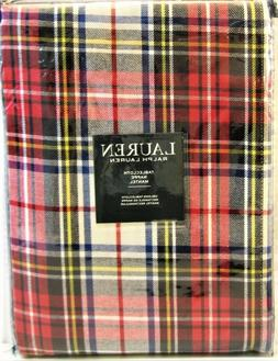 "Ralph Lauren Gretchen Tartan Stewart Plaid Tablecloth 60"" x1"